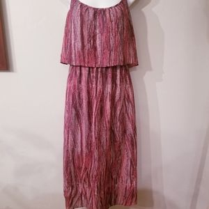 Wayf maxi popover lined dress w/ adjustable straps